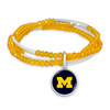 Michigan Wolverines Bracelet- Chloe Secondary