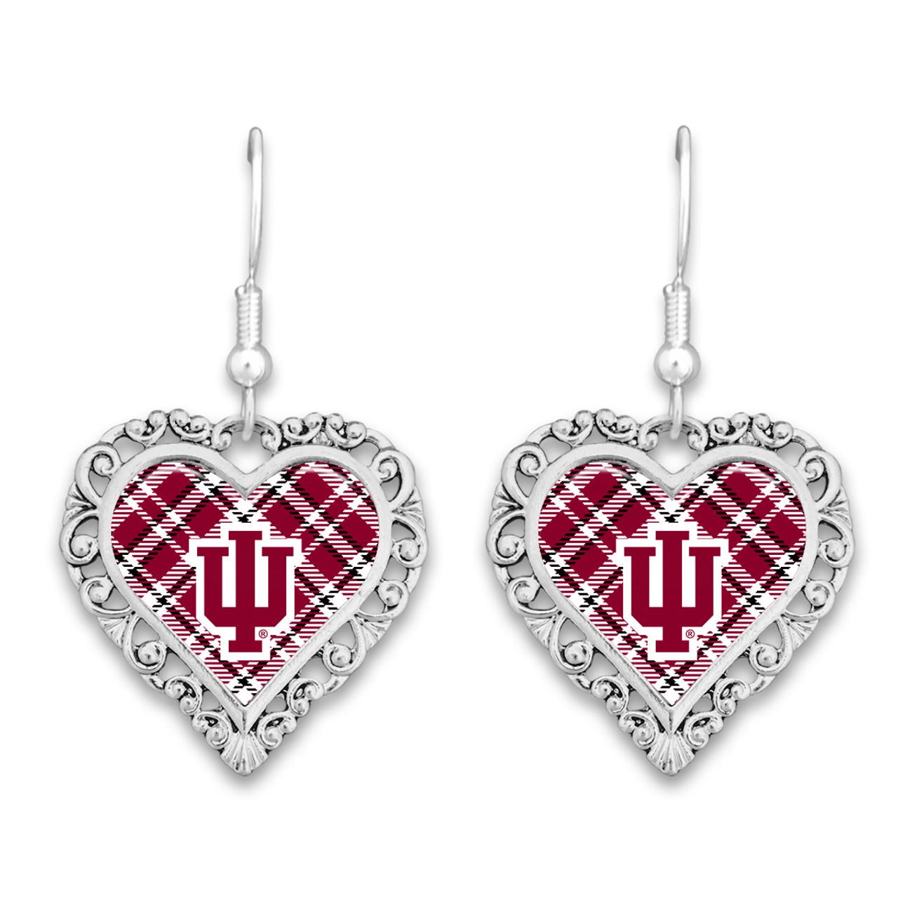 Indiana Hoosiers Earrings- Plaid