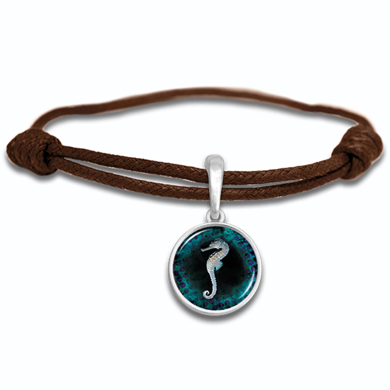 Sea Horse Adjustable Leather Bracelet
