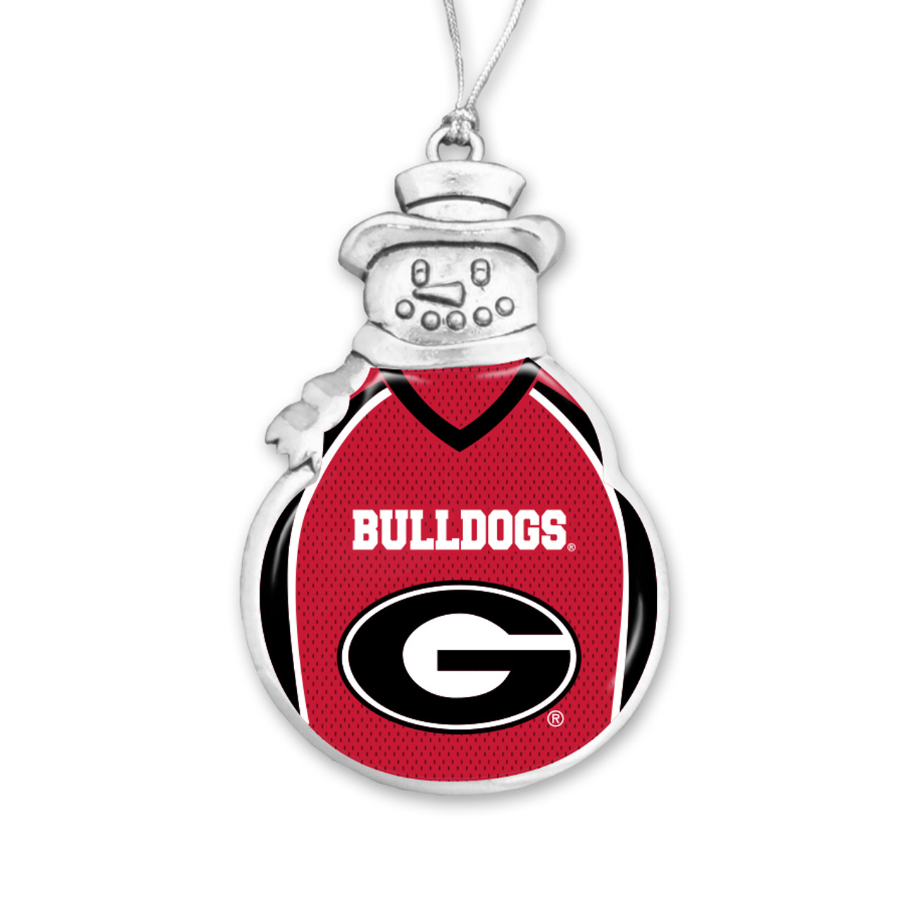 Georgia Bulldogs Snowman Ornament With Football Jersey