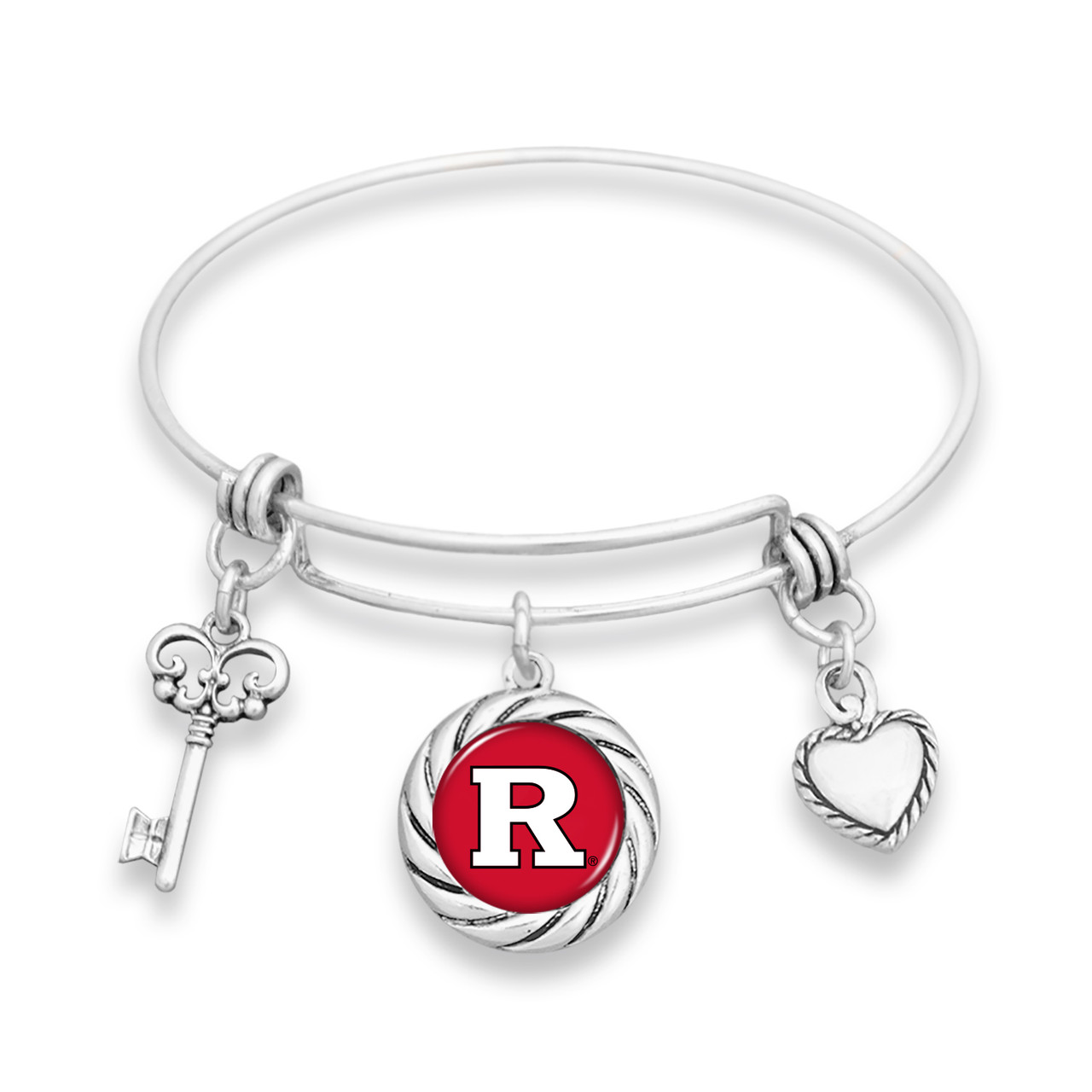 Rutgers Scarlet Knights Bracelet- Twisted Rope