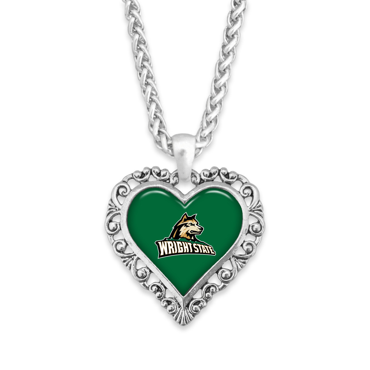 Wright State Raiders Necklace- Lace Trim
