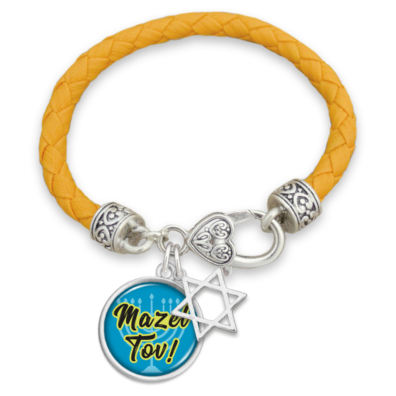 Mazel Tov Leather Bracelet