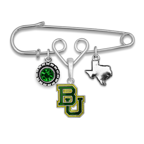 Baylor Bears Home Sweet School Brooch Pin