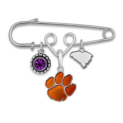 Clemson Tigers Home Sweet School Brooch Pin