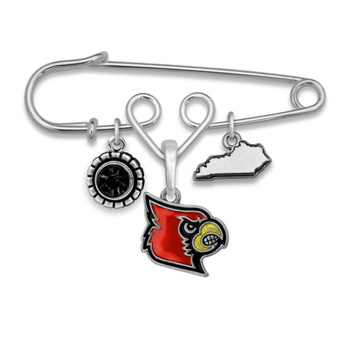 Louisville Cardinals Home Sweet School Brooch Pin