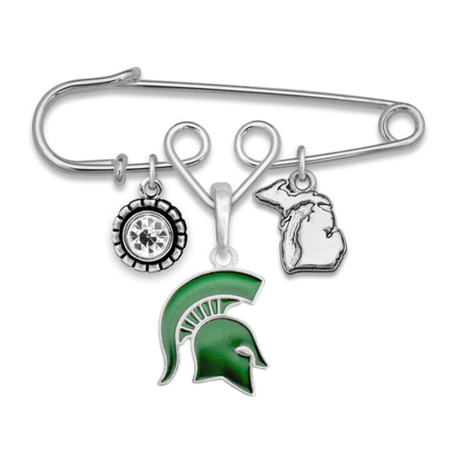 Michigan State Spartans Home Sweet School Brooch Pin