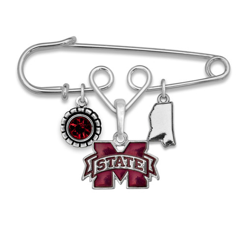 Mississippi State Bulldogs Home Sweet School Brooch Pin