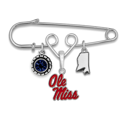 Ole Miss Rebels Home Sweet School Brooch Pin