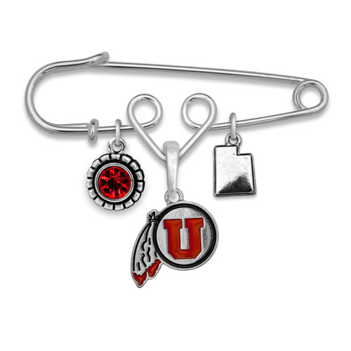 Utah Utes Home Sweet School Brooch Pin
