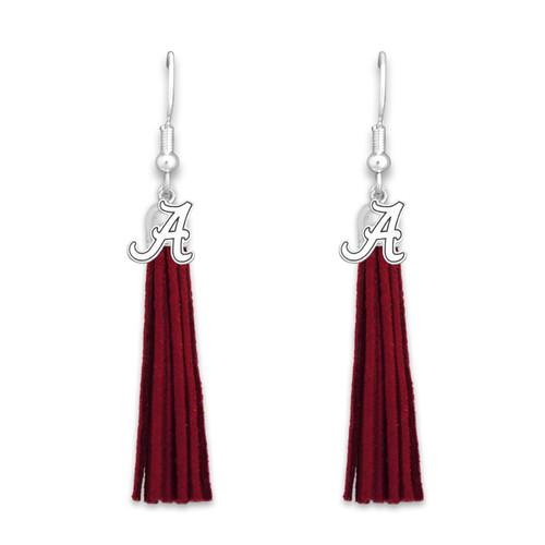 Alabama Crimson Tide Tassel Logo Earrings