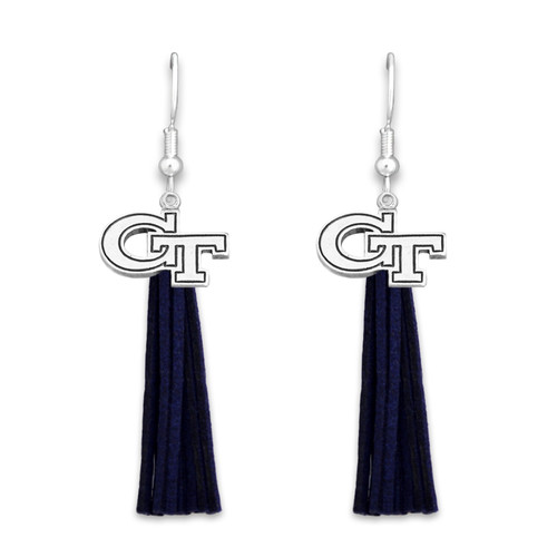 Georgia Tech Yellow Jackets Tassel Logo Earrings