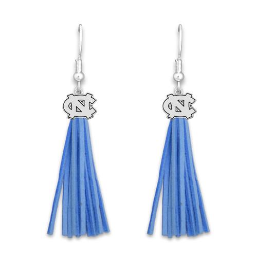 North Carolina Tar Heels Tassel Logo Earrings