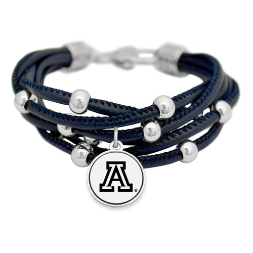 Arizona Wildcats Lindy Leather Bracelet