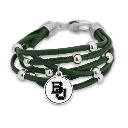 Baylor Bears Lindy Leather Bracelet