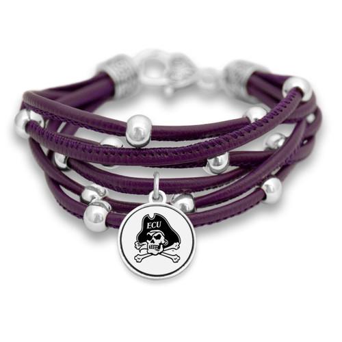 East Carolina Pirates Lindy Leather Bracelet