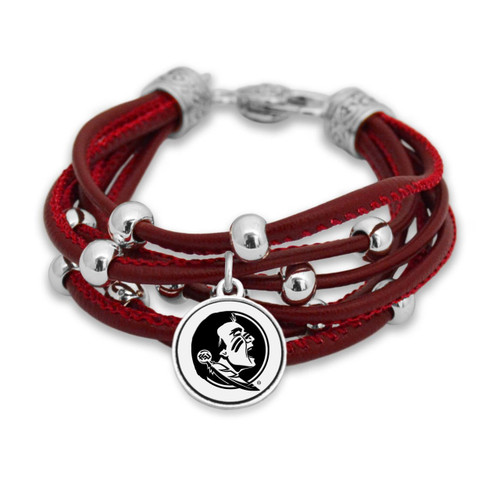 Florida State Seminoles Lindy Leather Bracelet