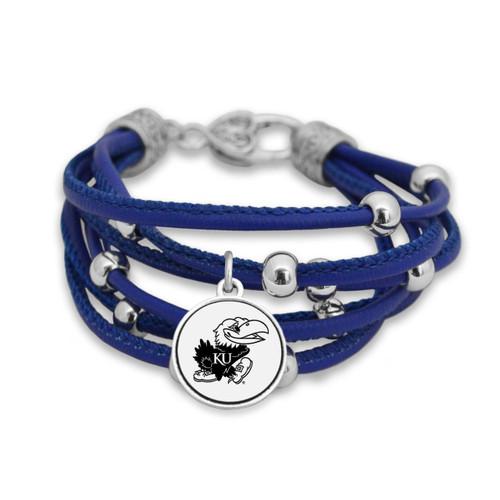 Kansas Jayhawks Lindy Leather Bracelet