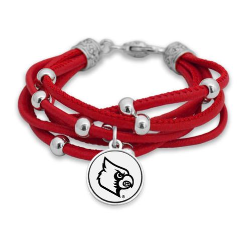 Louisville Cardinals Lindy Leather Bracelet