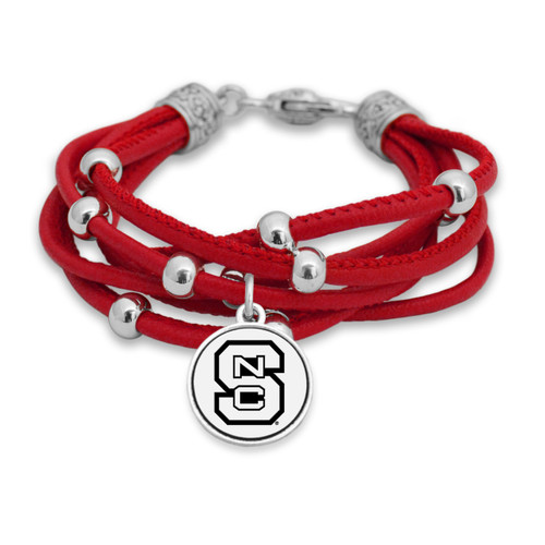 NC State Wolfpack Lindy Leather Bracelet