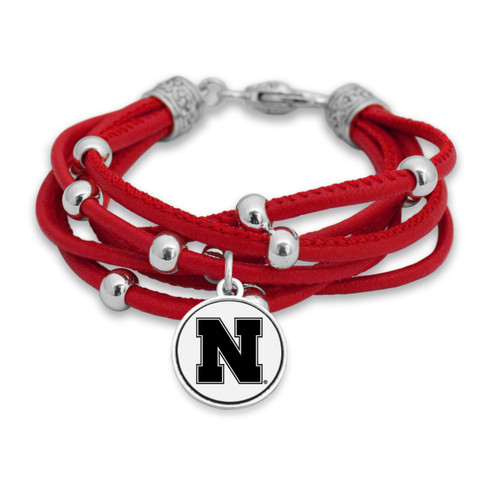 Nebraska Cornhuskers Lindy Leather Bracelet