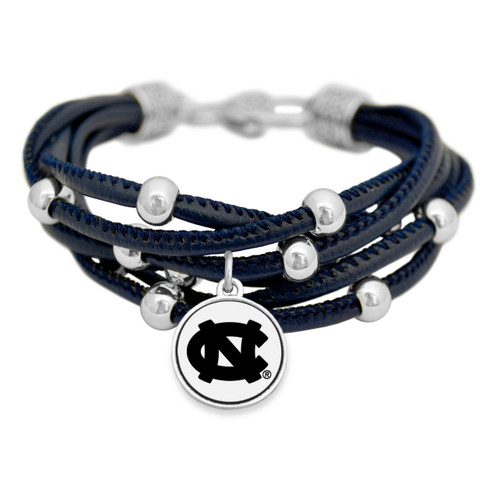 North Carolina Tar Heels Lindy Leather Bracelet