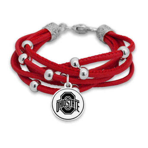 Ohio State Buckeyes Lindy Leather Bracelet