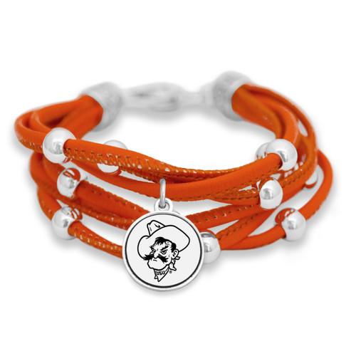 Oklahoma State Cowboys Lindy Leather Bracelet