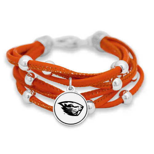 Oregon State Beavers Lindy Leather Bracelet