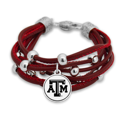 Texas A&M Aggies Lindy Leather Bracelet
