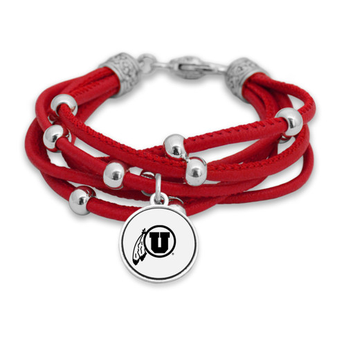 Utah Utes Lindy Leather Bracelet