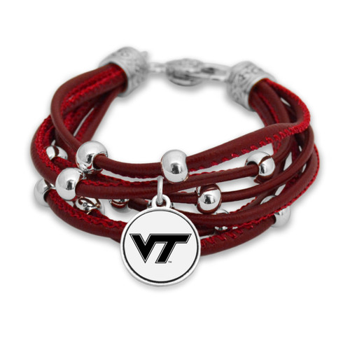 Virginia Tech Hokies Lindy Leather Bracelet