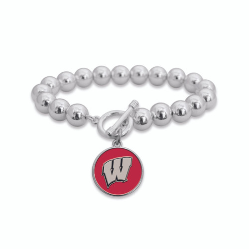 Wisconsin Badgers Society Toggle Bracelet