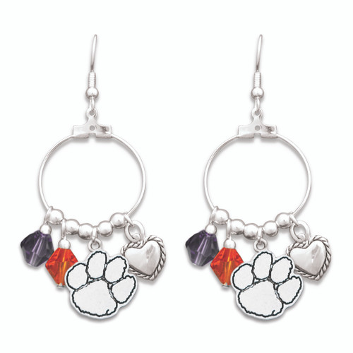 Clemson Tigers Haute Wire Earrings