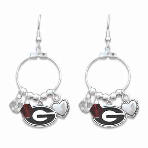 Georgia Bulldogs Haute Wire Earrings