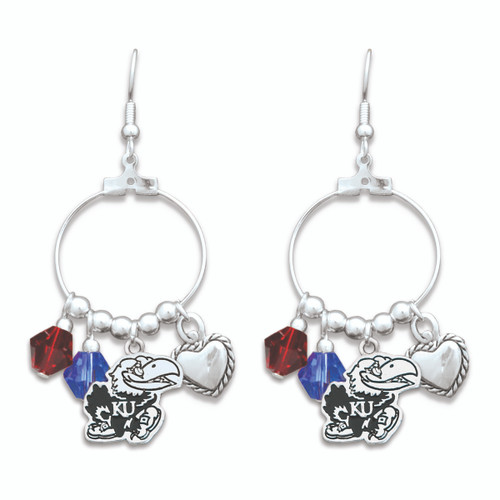 Kansas Jayhawks Haute Wire Earrings