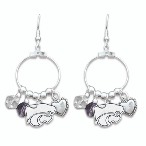 Kansas State Wildcats Haute Wire Earrings