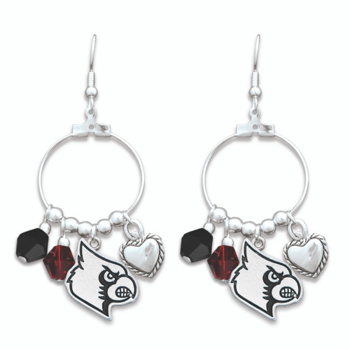 Louisville Cardinals Haute Wire Earrings