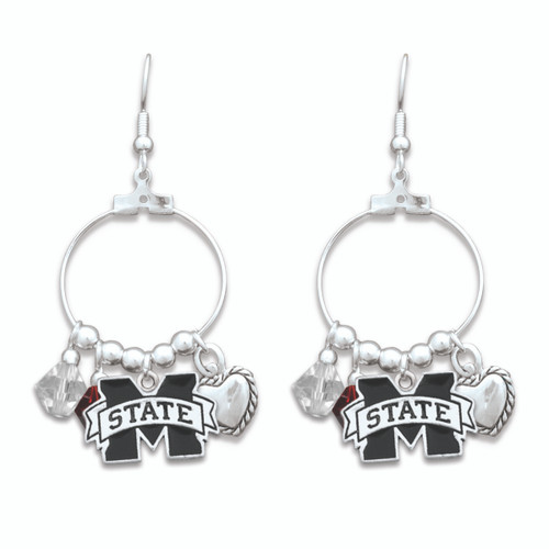 Mississippi State Bulldogs Haute Wire Earrings