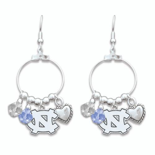 North Carolina Tar Heels Haute Wire Earrings