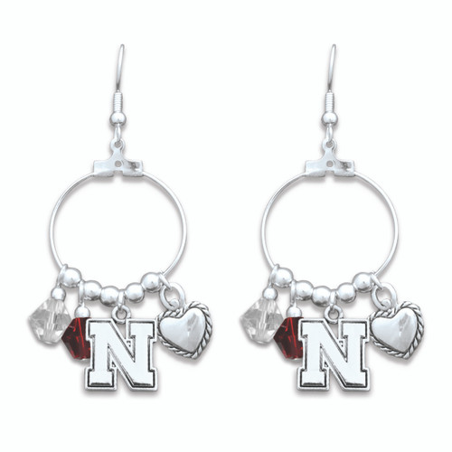 Nebraska Cornhuskers Haute Wire Earrings