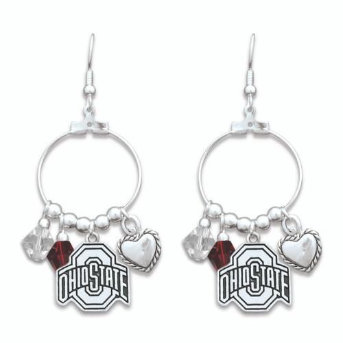 Ohio State Buckeyes Haute Wire Earrings