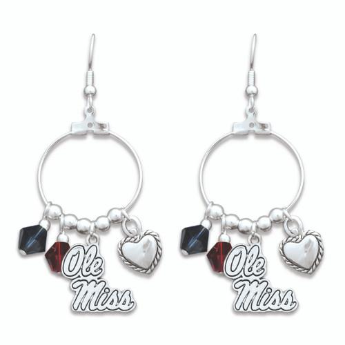 Ole Miss Rebels Haute Wire Earrings
