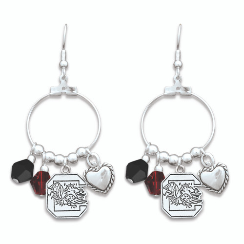South Carolina Gamecocks Haute Wire Earrings