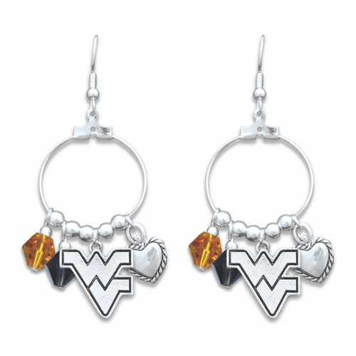 West Virginia Mountaineers Haute Wire Earrings