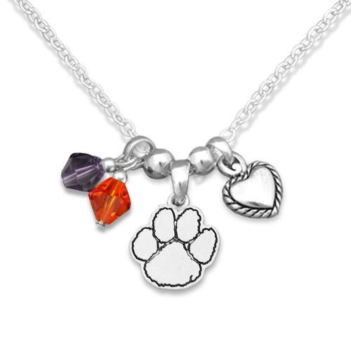 Clemson Tigers Haute Wire Necklace