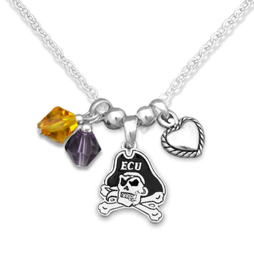 East Carolina Pirates Haute Wire Necklace