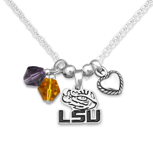 LSU Tigers Haute Wire Necklace