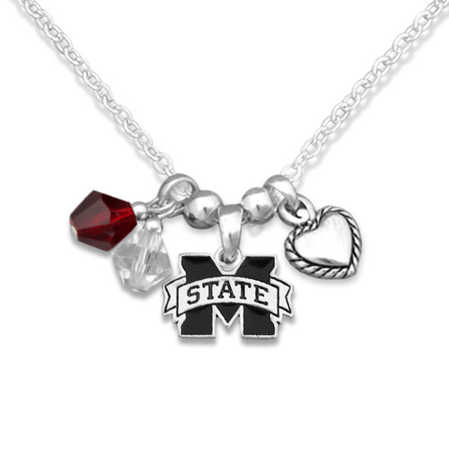 Mississippi State Bulldogs Haute Wire Necklace