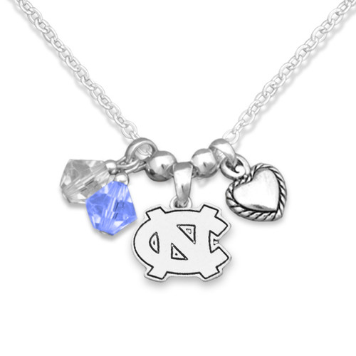 North Carolina Tar Heels Haute Wire Necklace